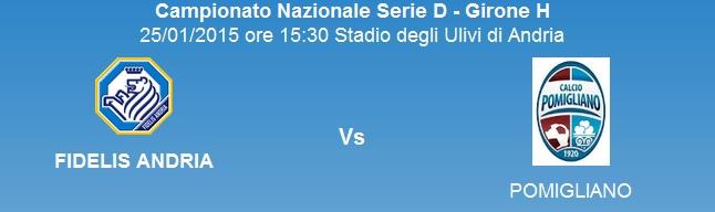 [19^ giornata] FIDELIS ANDRIA - Pomigliano: 2-1 Ultimo11